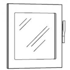 Glass door with lighting for models RRO 051-061E