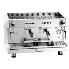 Arcadia Professional Espresso Machine Ss Polish White 2 Group