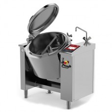 Baskett - Tilting jacketed pressurised kettle with mixer indirect electric heating 80L