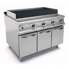 Baron 9GLV/G120 Bench Model Gas Barbeque 2mm Thick Top with Cabinet