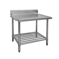 Stainless Dishwasher Outlet Bench LHS 600mm