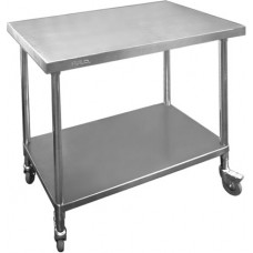 Premium Mobile Stainless Steel Bench 1200x700mm