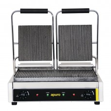 Apuro SP 02385 Bistro Contact Grill - Double (Ribbed/Ribbed) - AUS PLUG