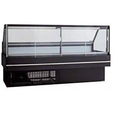 F.E.D. DD2000S Black Square Front Glass Cold Deli Display