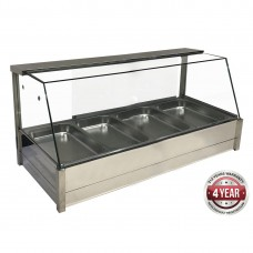 Angled Countertop Heated Bain Marie 8X½Gn