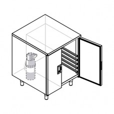 Cabinet with tray racks