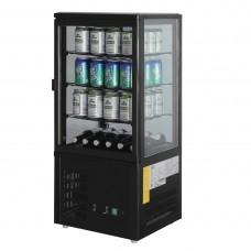 Polar CS627-A Chilled Display Cabinet Black - 68Ltr