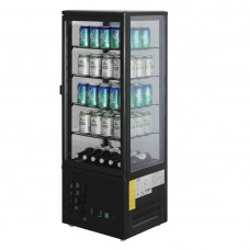 Polar CS628-A Chilled Display Cabinet Black - 98Ltr