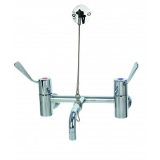 Aqualine AQW1836 Cleaners Sink Faucet With Wall Bracket Support