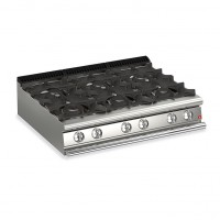 Queen7 6 Burner Countertop Gas CookTop - 1200mm