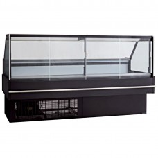 Black Square Front Glass Heated Deli Display