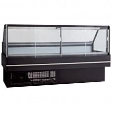 F.E.D. DD2000SH Black Square Front Glass Heated Deli Display