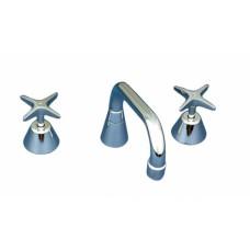 Deck Mount Sink Set - 300mm spout and four arm handle