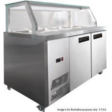 F.E.D. PG180FA-Y Chilled Bain Marie Food Display 5X1/1Gn