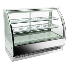 F.E.D. CSH-1200S2 Curved Glass Hot Food Display, Three Display Levels