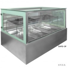 F.E.D. SHFD-3P Double Decker STAINLESS STEEL HEATED COUNTERTOP - GASTRONORM x
