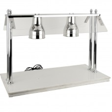 Double Heat Lamp Carving Station With Sneeze Guard