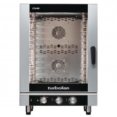 Electric Combi Oven Full Size 10-Tray Manual Controls (Direct)