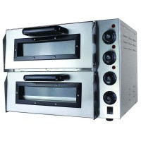 Compact Double Pizza Deck Oven 15Amp