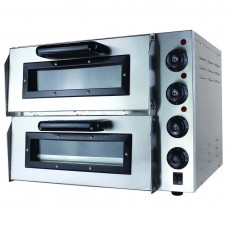 Black Panther by FED EP2S/15 Compact Double Pizza Deck Oven 15Amp
