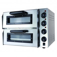 Black Panther by FED EP2S Compact Double Pizza Deck Oven 10Amp