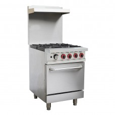 Commercial 4 Burner LPG Range With Oven Flame Failure