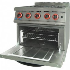 Gasmax by FED JZH-RP-4LPG Four Gas Burner Range With Large Oven LPG