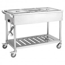 F.E.D. BMT4H Four Pan Heated Food Service Cart