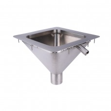 #316 Stainless Steel Square to Conical  Flushing Rim Sink 350mm