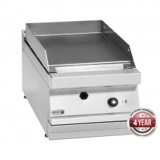 700 series natural gas mild steel 1 zone fry top with thermostatic control 350 x 780 x 290mm