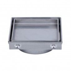 130mm Stainless Steel Tile Insert Point Drain 100mm Centre Outlet