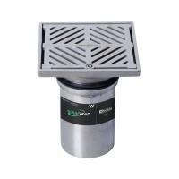 #304 Stainless Steel 150mm Heel Proof Square Floor Waste Arrestor (suits 100mm pipe)