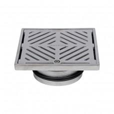 #316 Stainless Steel 150mm Heel Proof Square Floor Waste (suits 100mm pipe)
