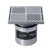 #304 Stainless Steel 200mm Heel Proof Square Floor Waste Arrestor (suits 150mm pipe)