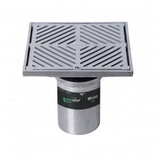 #316 Stainless Steel 200mm Heel Proof Square Floor Waste Arrestor (suits 100mm pipe)