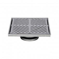 #304 Stainless Steel 200mm Heel Proof Square Floor Waste (suits 100mm pipe)