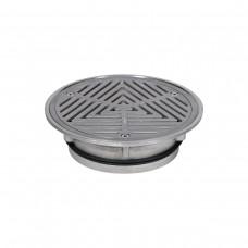 #316 Stainless Steel 200mm Heel Proof Vinyl Floor Waste (suits 150mm pipe)