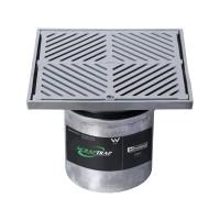 #304 Stainless Steel 250mm Heel Proof Square Floor Waste Arrestor (suits 150mm pipe)