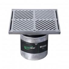 #316 Stainless Steel 250mm Heel Proof Square Floor Waste Arrestor (suits 150mm pipe)