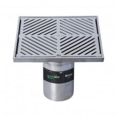 #304 Stainless Steel 225mm Heel Proof Square Floor Waste Arrestor (suits 100mm pipe)