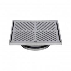 #316 Stainless Steel 225mm Heel Proof Square Floor Waste (suits 150mm pipe)