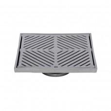 #316 Stainless Steel 225mm Heel Proof Square Floor Waste (suits 100mm pipe)