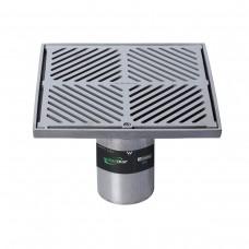 #316 Stainless Steel 250mm Heel Proof Square Floor Waste Arrestor (suits 100mm pipe)