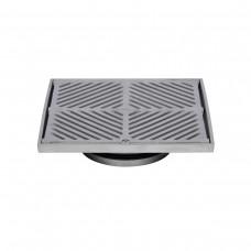 #304 Stainless Steel 200mm Heel Proof Square Floor Waste (suits 150mm pipe)