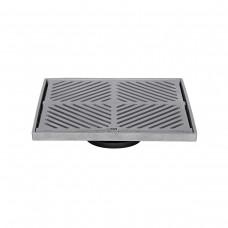 #304 Stainless Steel 250mm Heel Proof Square Floor Waste (suits 100mm pipe)