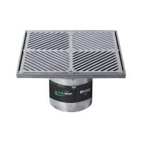 #304 Stainless Steel 300mm Heel Proof Square Floor Waste Arrestor (suits 150mm pipe)