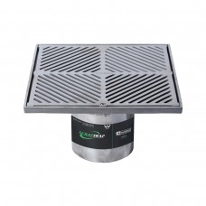 #316 Stainless Steel 300mm Heel Proof Square Floor Waste Arrestor (suits 150mm pipe)