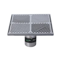 #304 Stainless Steel 300mm Heel Proof Square Floor Waste Arrestor (suits 100mm pipe)