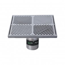 #316 Stainless Steel 300mm Heel Proof Square Floor Waste Arrestor (suits 100mm pipe)