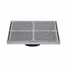 #304 Stainless Steel 300mm Heel Proof Square Floor Waste (suits 100mm pipe)